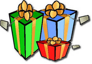 Free Clipart Picture of Three Christmas Presents With Gift Tags. Click Here to Get Free Images at Clipart Guide.com