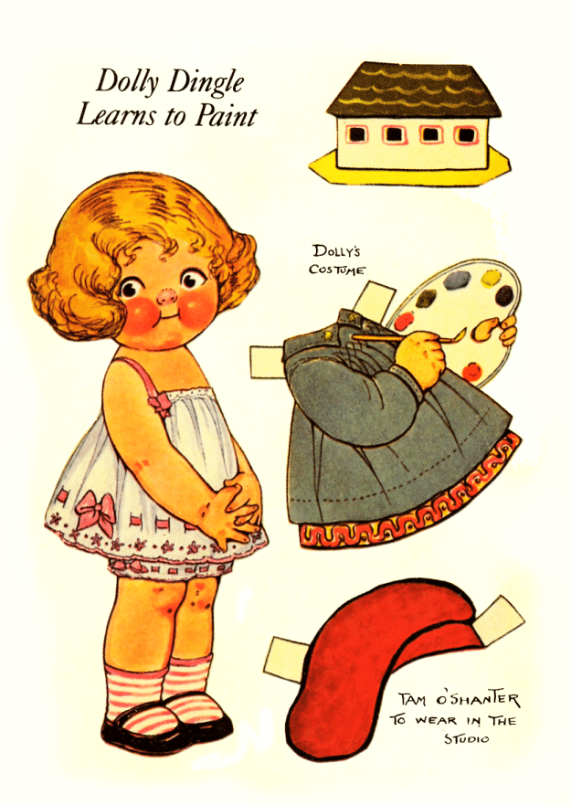 Dolly Dingle Vintage Paper dolls