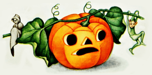 Vintage Jack-o-lantern, ghoul, and goblin clipart