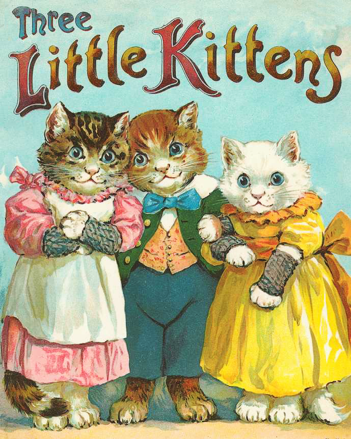 Three Little Kittens Clipart