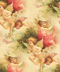 Victorian Fairy Seamless Tile Clipart