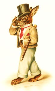 Victorian Bunny Rabbit Clipart
