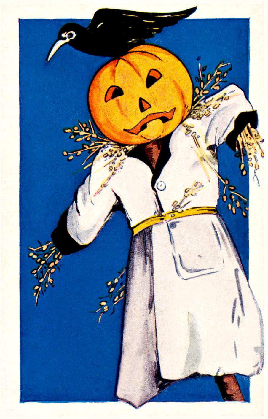 Vintage Pumpkin Scarecrow