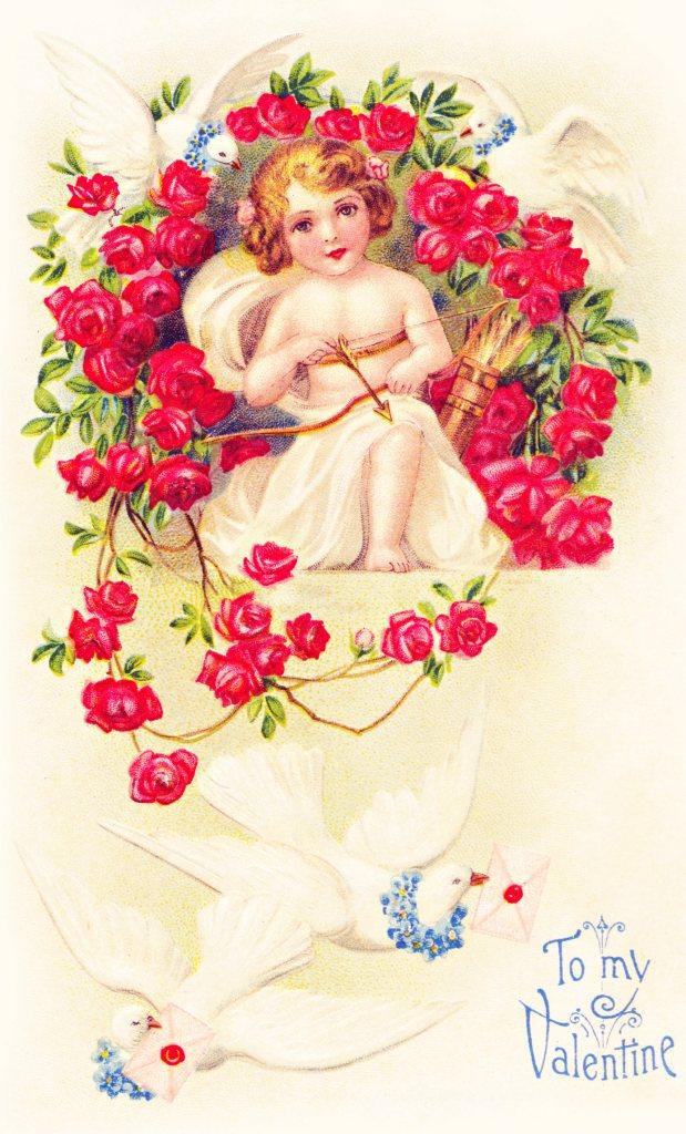 To My Valentine Cupid Graphic
