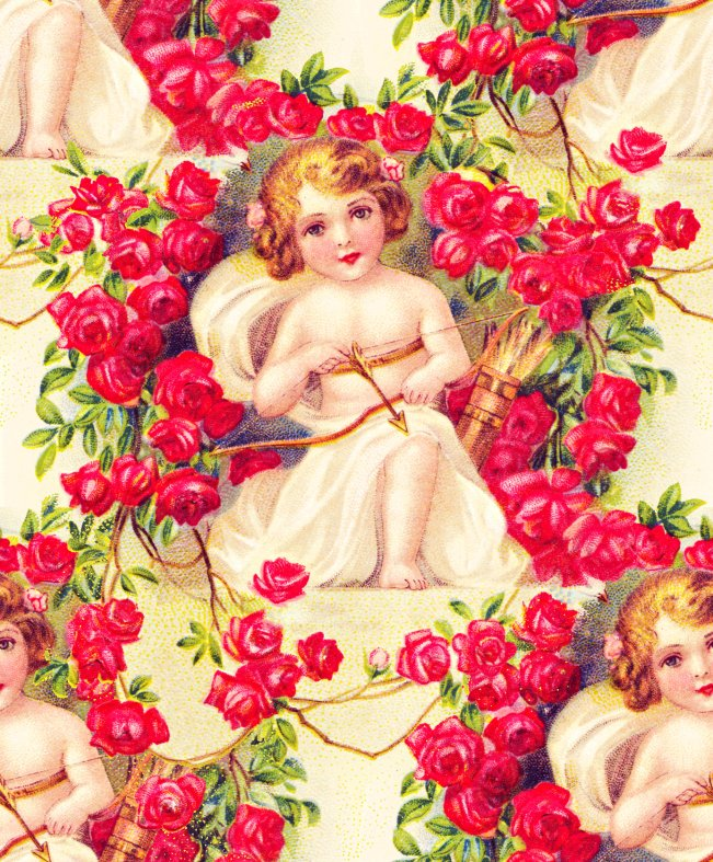 To My Valentine Cupid Seamless Tile