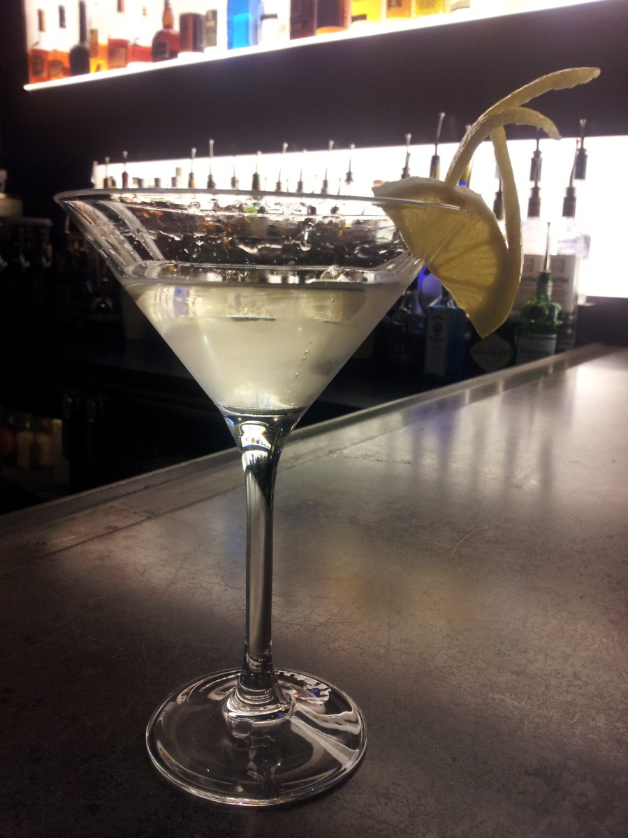 Lemondrop garnishes: The Flying V