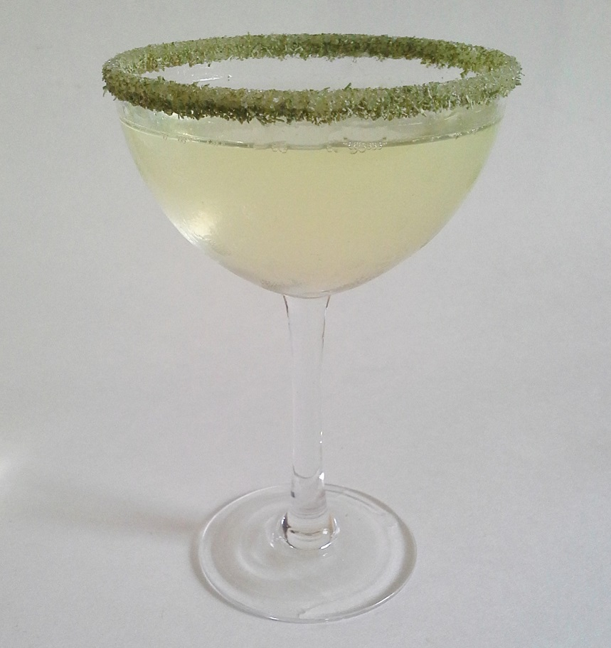 Rosemary herbal sugar rimmed lemondrop