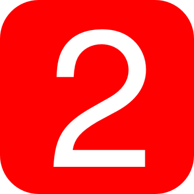 Red, Rounded, Square With Number 2 Clip Art at Clker.com - vector clip art online, royalty free ...