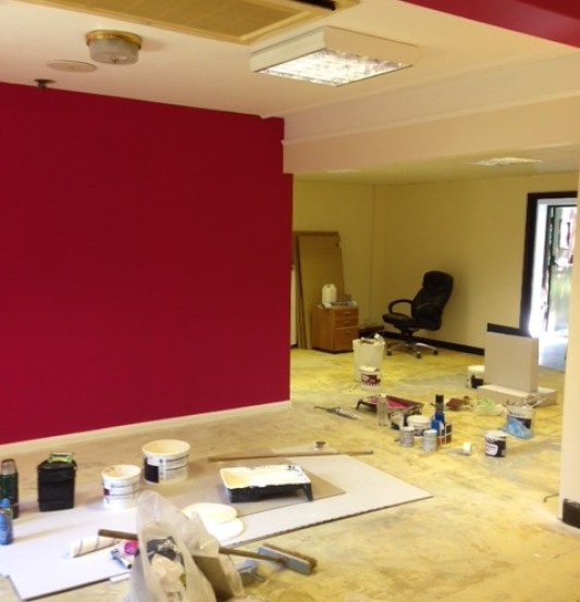 new office pinked