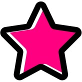 pink and black star