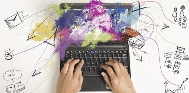 digital marketing laptop colour
