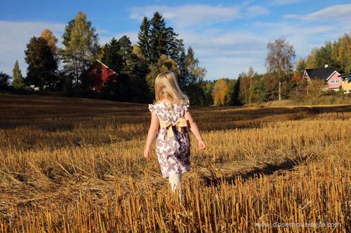 Walking in the field