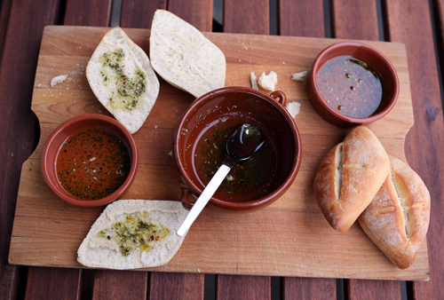 Serve with small dipping bowls
