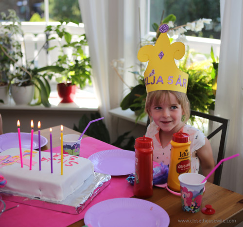With her Princess Cadence crown