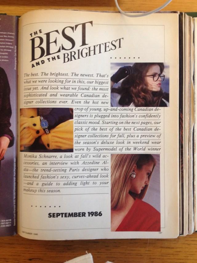 best of canada 1 flare september 1986