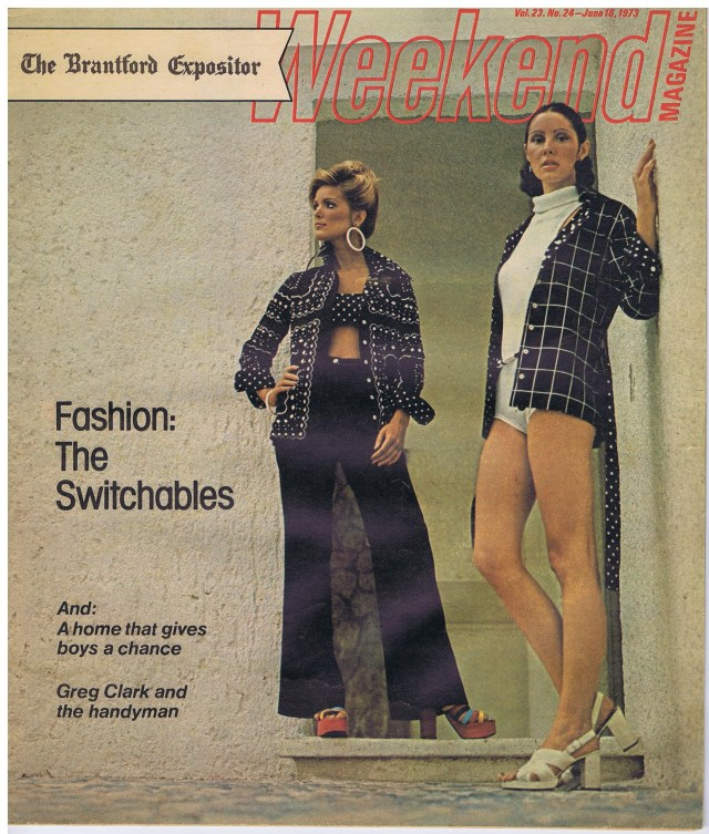 WEEKEND MAGAZINE MARIA HOYT  VIJU CRANE JUNE 1973