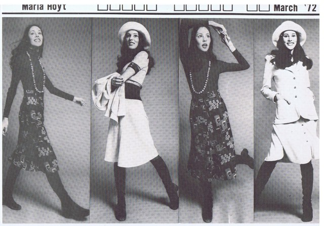 INTERNATIONAL TOP MODELS MARIA HOYT 1972