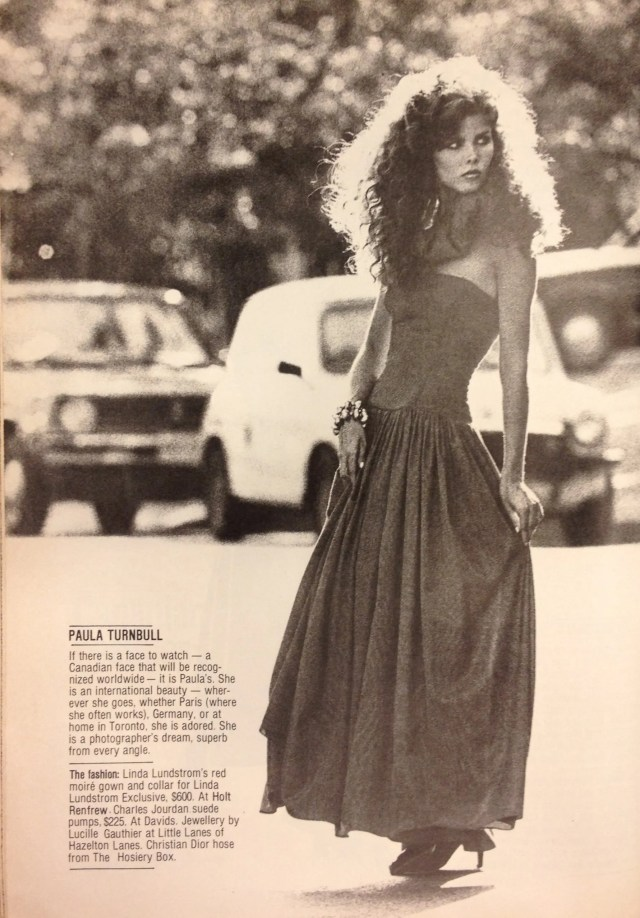 FASHION 1981 FALL MODELS 3 PAULA TURNBULL LINDA LUNDSTROM