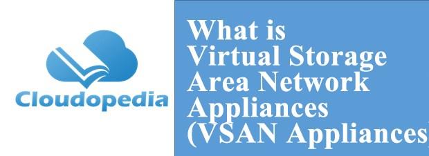 Definition of Virtual Storage Area Network Appliances (VSAN Appliances)