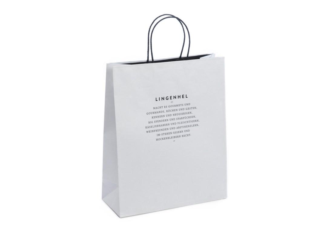 Shopping bags manico cordino ritorto risvoltato