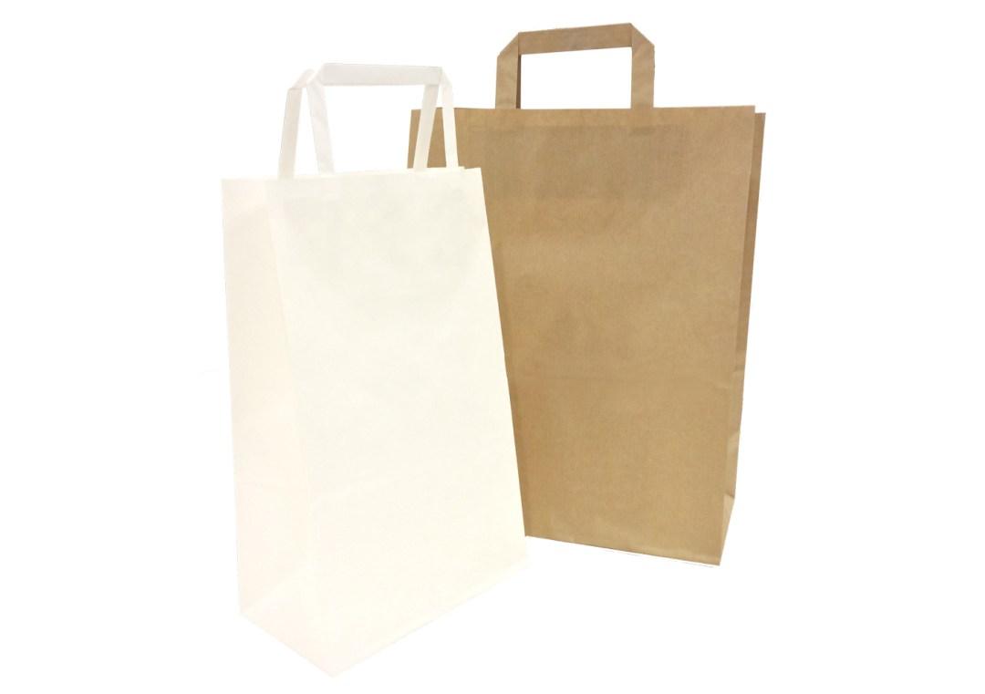 sacchetti in carta manico piatto