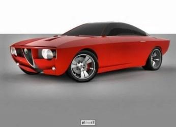 Alfa Romeo Giulia coupé concept car rendering 4