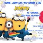 Despicable Me 2 birthday invitations free