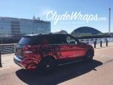 Mercedes ML Red Chrome Wrap