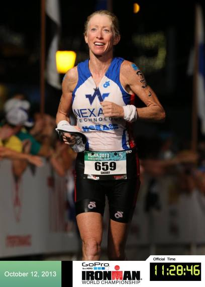 Sherry finishing IRONMAN WORLD CHAMPIONSHIP