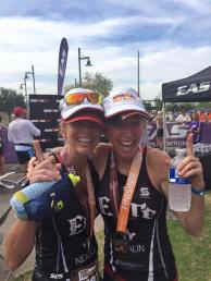 arizona sherry and brenda at finish