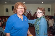 Constance Edwards (CVO Recording Secretary) with Francine O'Connor