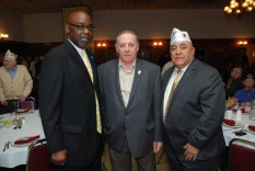 Cook County Commissioner 2nd Dist. Robert Steele, John Borg (Veterans for Unification President), Al Zaragosa (CVO Co-Chair and VAC Cook County Superintendent)