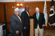 Al Zaragosa (CVO Co-Chair), Comm. 2nd Dist Robert Steele, and the Sr. Vice Commander