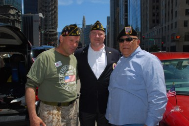 "CVO members John Sullivan Ryan, Christopher LaFayelle and Abundio ""Al"" Zaragoza."