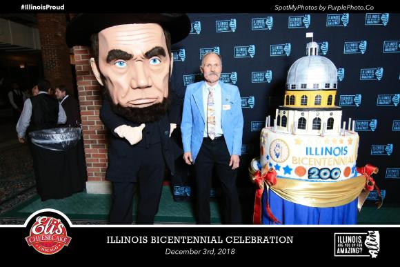 Lincoln & Bicentennial Cake, with title, 12-3-18