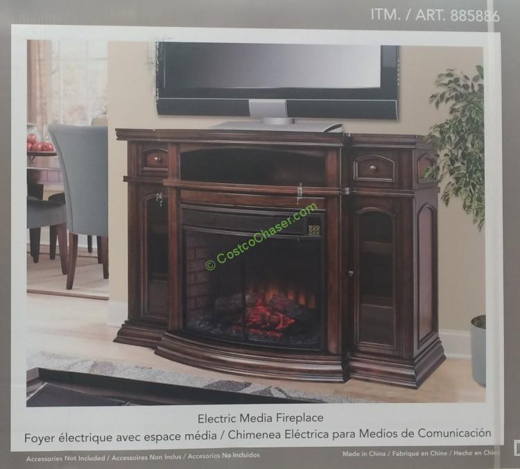 """Ember Hearth Electric Fireplace 70"""" Media Console – CostcoChaser"""