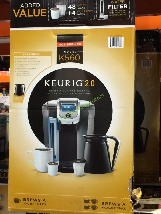 keurig 20 k560 brewer and crafe with 48 kcup pods and 4 k