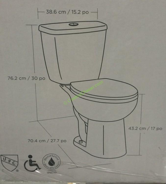 Waterridge Two Piece Elongated Dual Flush Toilet