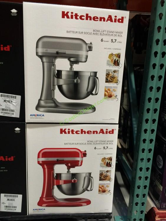 Kitchenaid 6QT Bowl Lift Mixer With Stainless Steel Bowl , Model# KP26M9XCOB