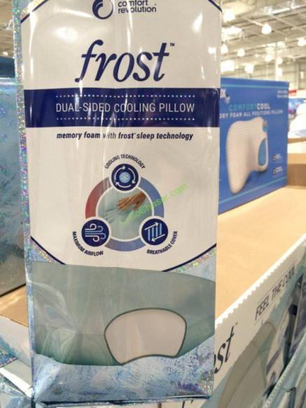 Comfort Revolution Frost Dual Side Memory Foam Pillow
