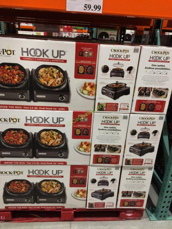 Costco 763183 Crock Pot Hook Up Connectable Entertaining