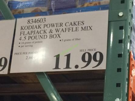Costco-834603-Kodiak-Power-Cakes-Flapjack-Waffle-Mix-tag