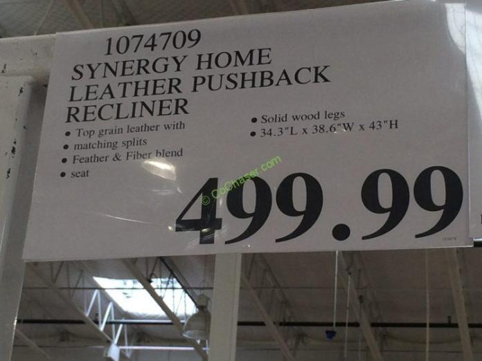 Costco-1074709-Synergy-Home-Leather-Pushback-Recliner-tag