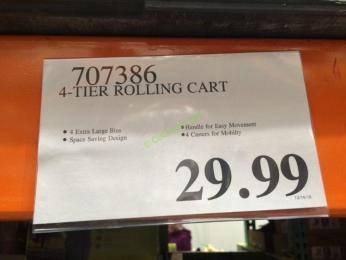 Costco-707386-4-Tier-Rolling-Cart -tag