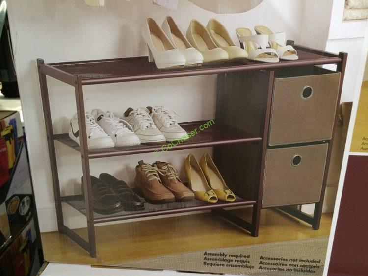 Costco 707812 Organize All 3 Tier Metal Shoe