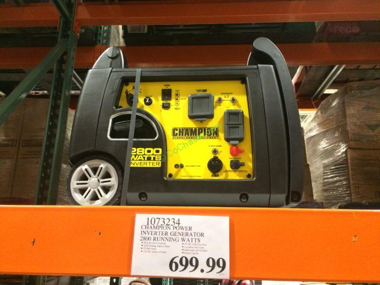 champion power inverter generator running watts model100158