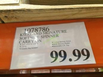 Costco-1078786-Kirkland-Signature-Softside-Spinner-Carry-On-tag