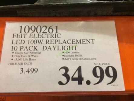 Costco-1090261-Feit-Electric-LED-100W-Replacement-Daylight-tag