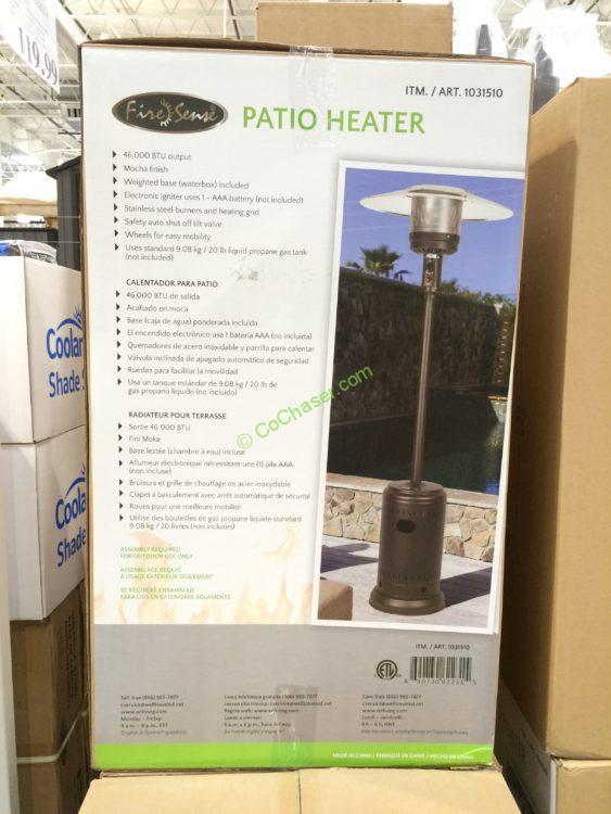 Costco 1031510 Mocha Commercial Patio Heater Box