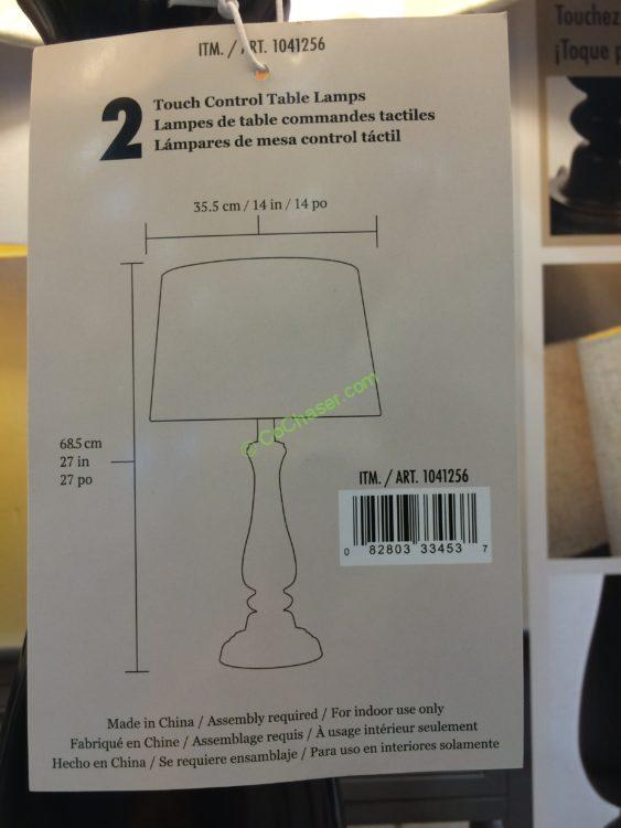 Costco 1041256  J. Hunt Home Table Lamp Set